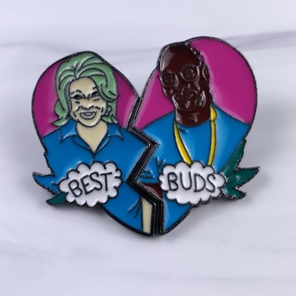 Best Buds 2pc. Enamel Pin/ Brooch